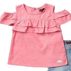 7FAM Ruffle Popover T Shirt 24M